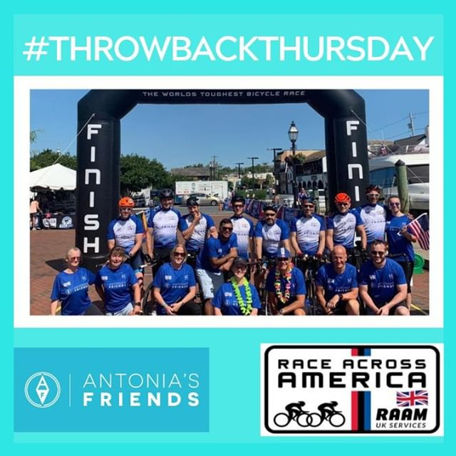 #TBT to when Antonia's Friends completed Race Across America in June.💪🚴‍♂️🇺🇸 It was the 5th year that a team had raced in memory of Antonia, and helped raise vital funds for asthma related charities.They completed the race in an astonishing 6 days, 18 hours, and 5 minutes.👏 #inspiring #RAAM2019 #throwbackthursday #thursdaythoughts
