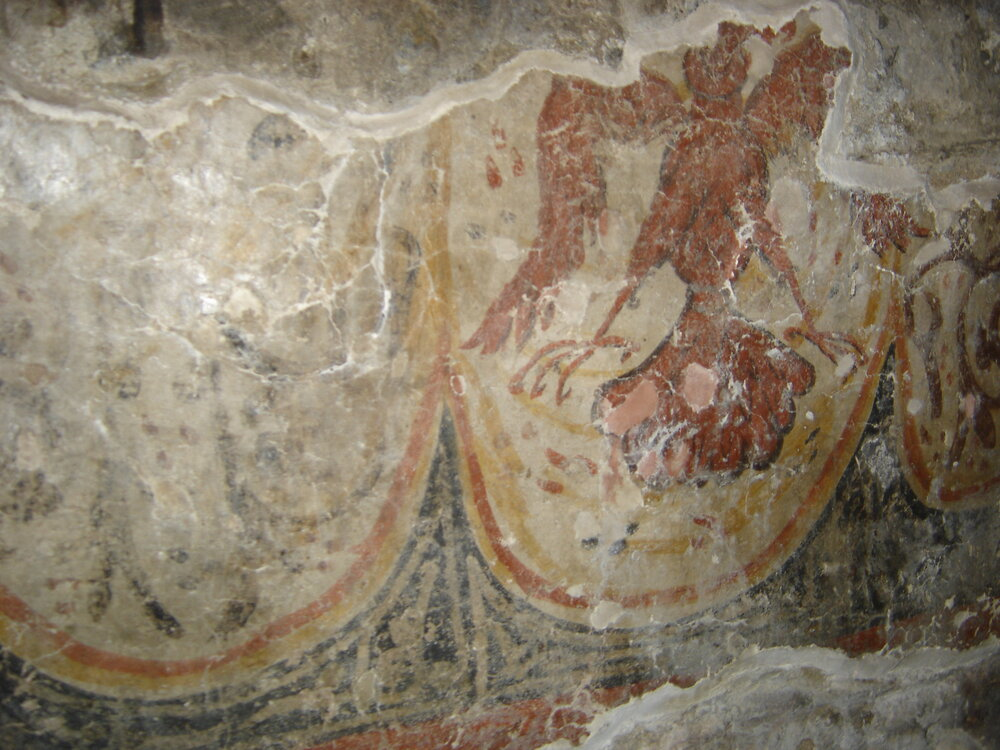 Najstariji sačuvani prikaz srpskog grba u crkvi Svetog apostola Petra na Limu kraj Bijelog Polja, Foto: Privatna arhiva