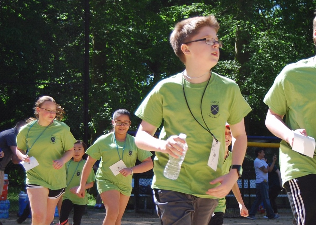 Students participating in our annual Jog-a-thon
