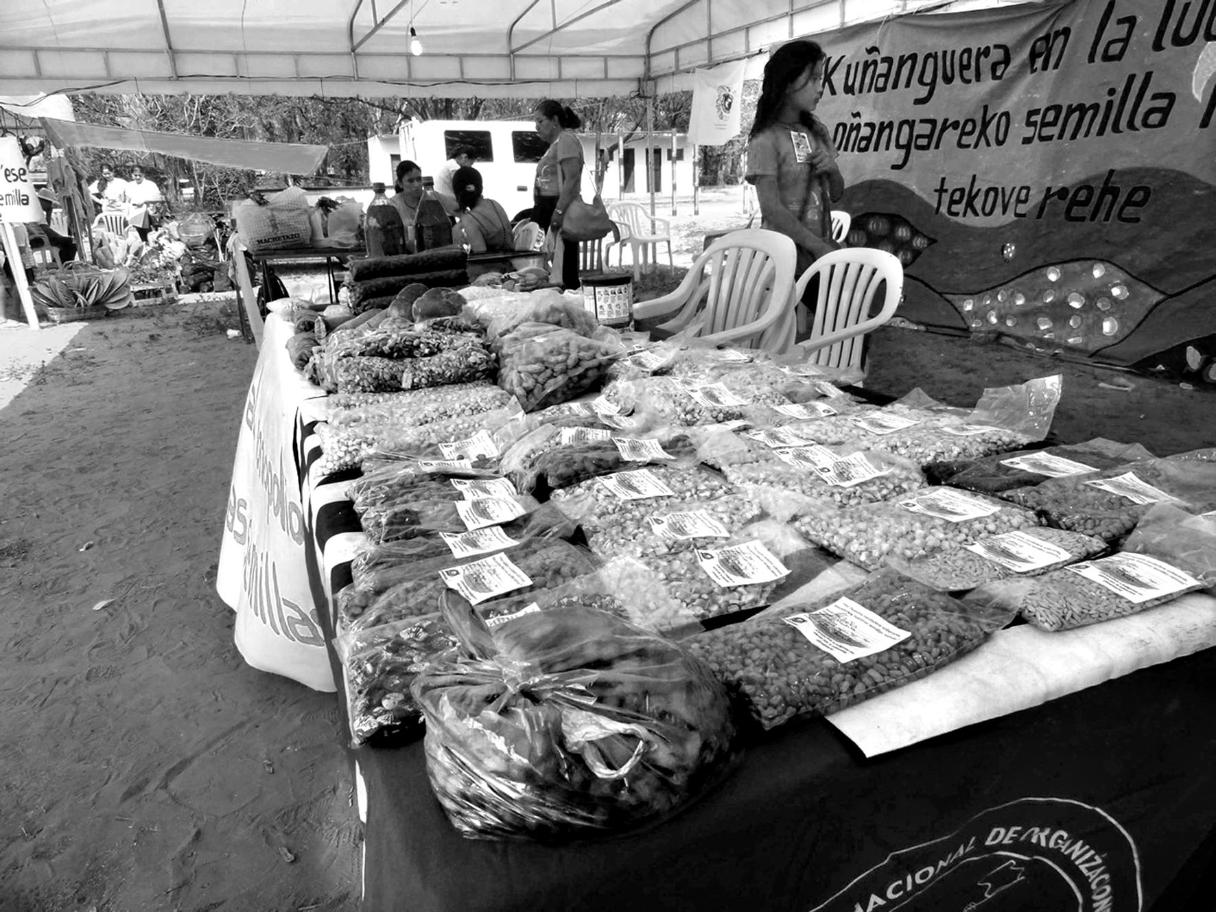 La culture, l'échange et la vente de semences indigènes jouent un rôle crucial pour la survie des populations autochtones et des paysans, ainsi que pour la sécurité alimentaire. Photo : Heñoi Jey Paraguay