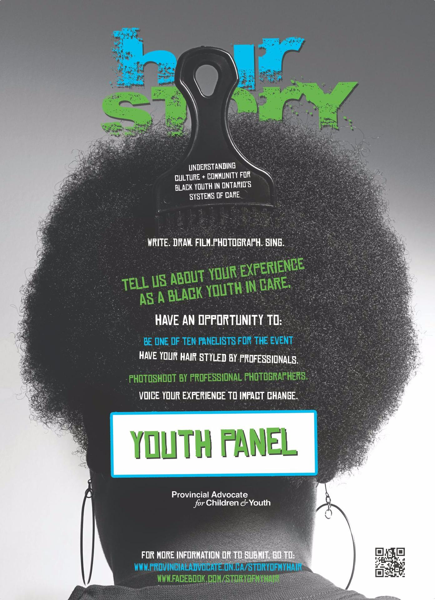 HairStory Youth Panel - On October 2012 - HairStory brought together 10 young people from across the Province of Ontario and having experiences from various parts of the care system to sit on a youth panel, held in Toronto. The young people would speak to an audience of community organizations, Black community leaders, and policy-makers within the provincial government about their experiences with the various care systems in Ontario.The young people gathered in Toronto over one weekend in October.