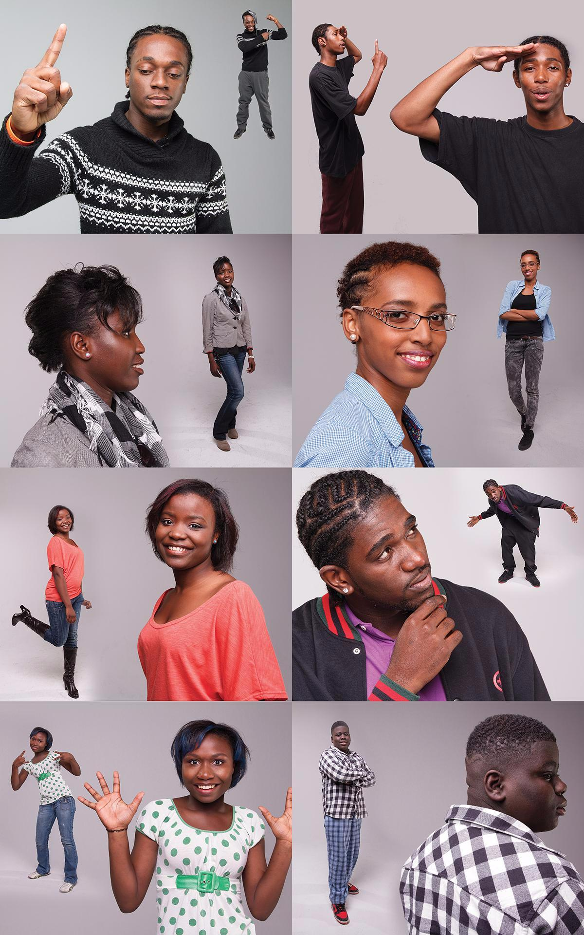 At the same time, the youth panel were also photographed by Toronto-based celebrity portrait photographer, Isa Ransome. These sets of photographs were then printed, framed and exhibited in the evening during the youth panel.