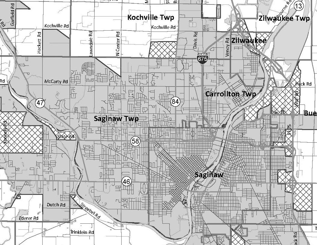 Saginaw Urbanized Area - PDF / Large Image