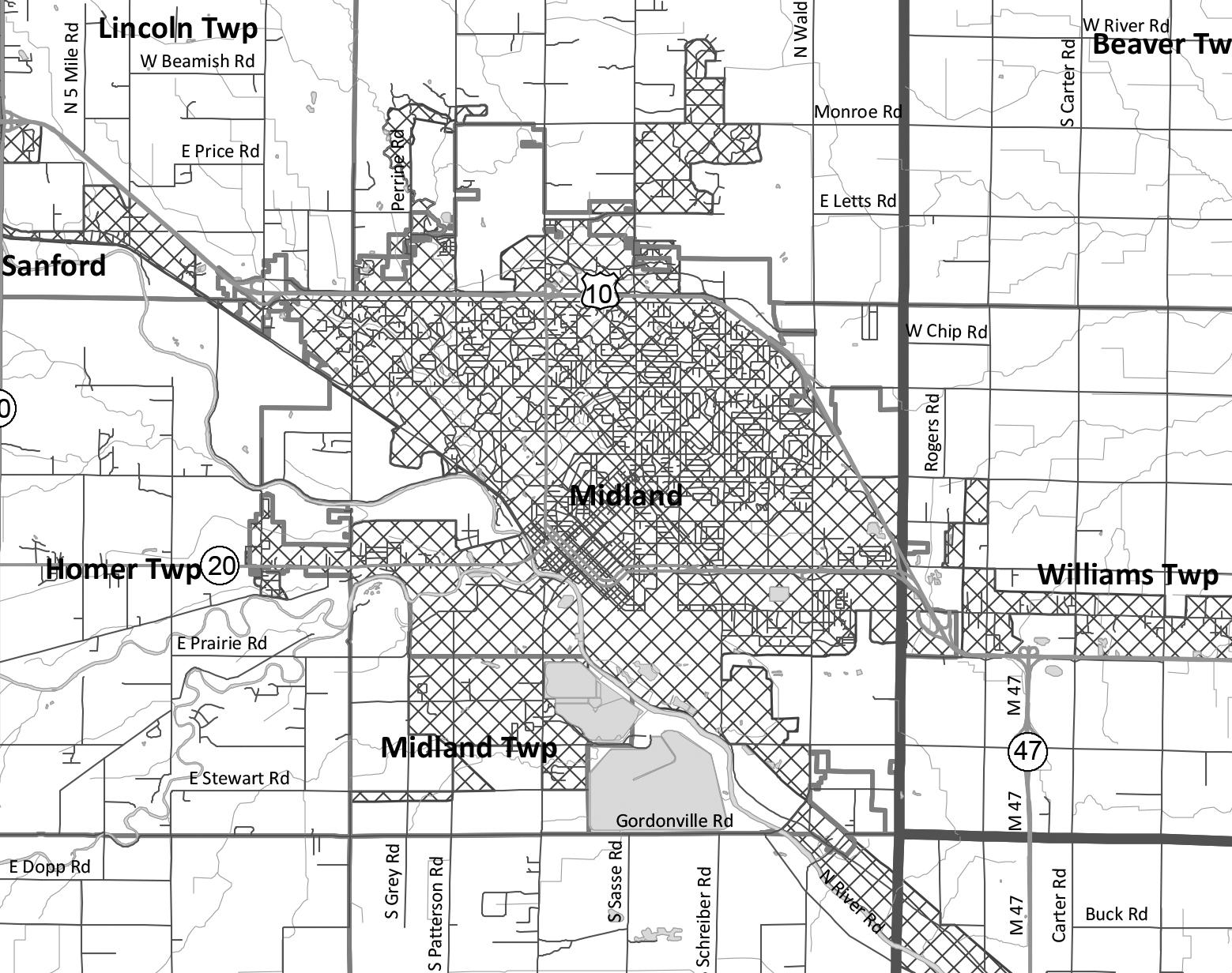 Midland Urbanized Area - PDF / Large Image