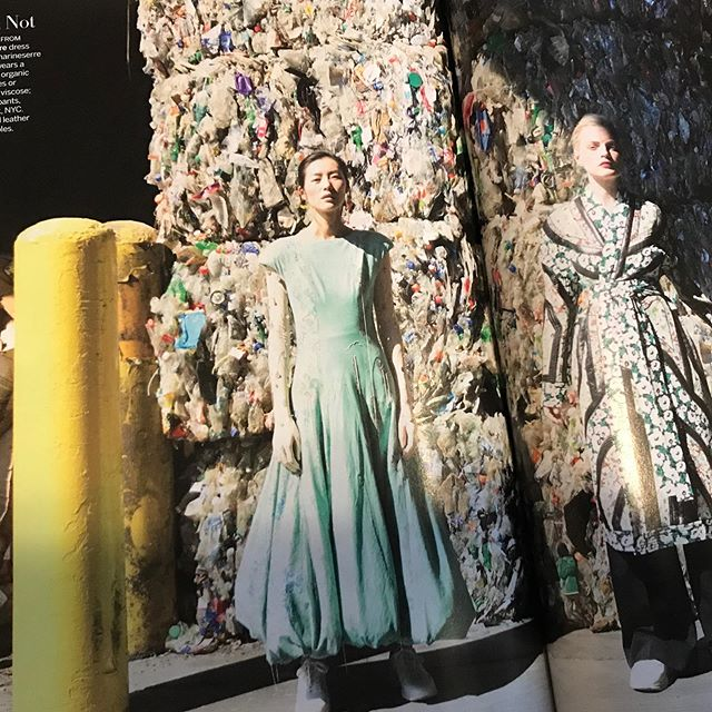 At First Mile, we've been posing in front of bales of plastic for years, but we're excited to see this trend catching on all the way to @voguemagazine  Where do your clothes come from?? #theseptemberissues #vogue #artimitateslife #fromthefirstmile #recycle #
