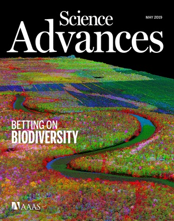 Science Advances Digital Cover Vol. 5, no. 4, May 2019 Image Credit: Greg Asner and Nick Vaughn, ASU Center for Global Discovery and Conservation Science.  Reprinted with permission from AAAS.