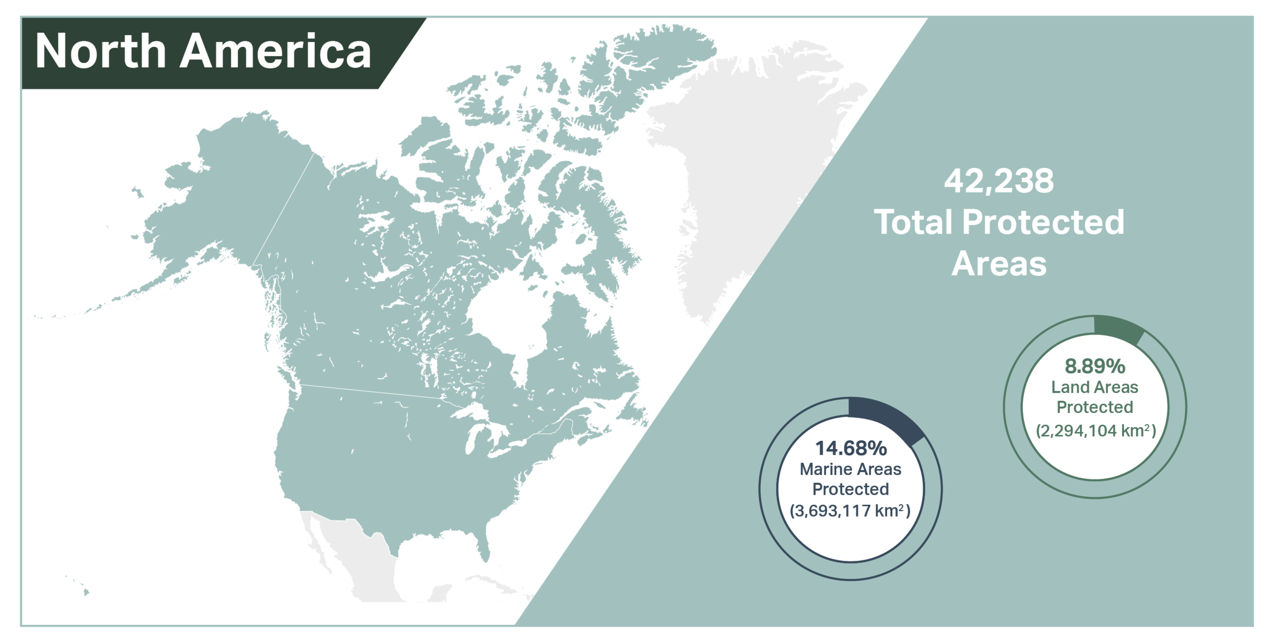 UNEP-WCMC (2019). Protected Area Profile for North America from the World Database of Protected Areas, October 2019. Available at:  www.protectedplanet.net