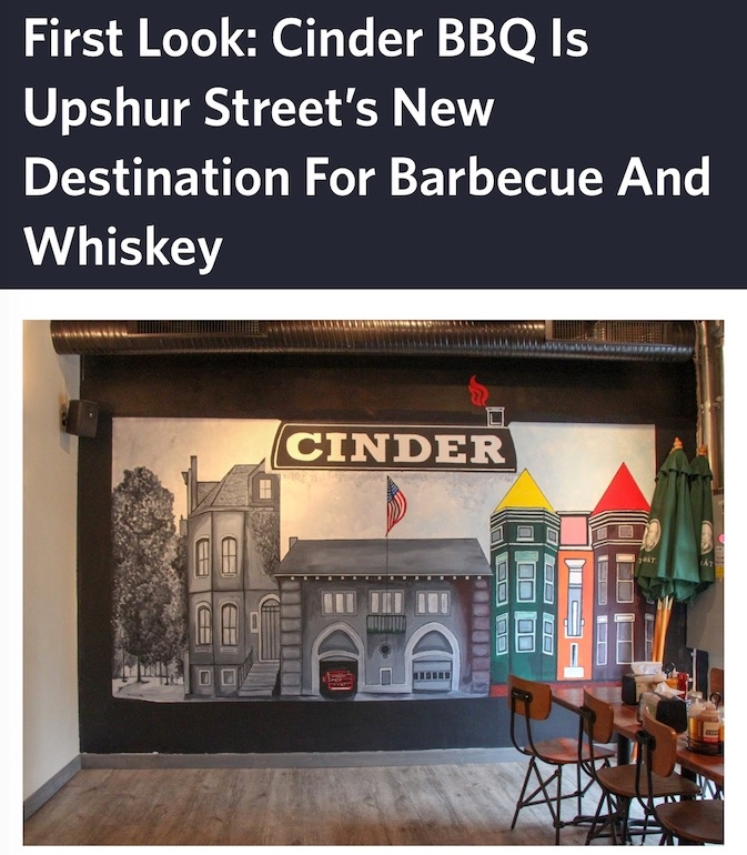 DCist - First Look: Cinder BBQ is Upshur Street's new destination for barbecue and whiskey