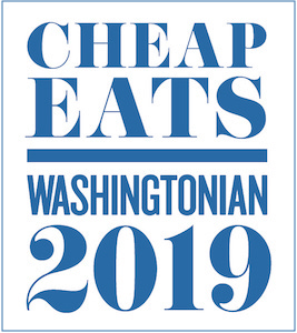 Rated one of the best cheap eats in DC!