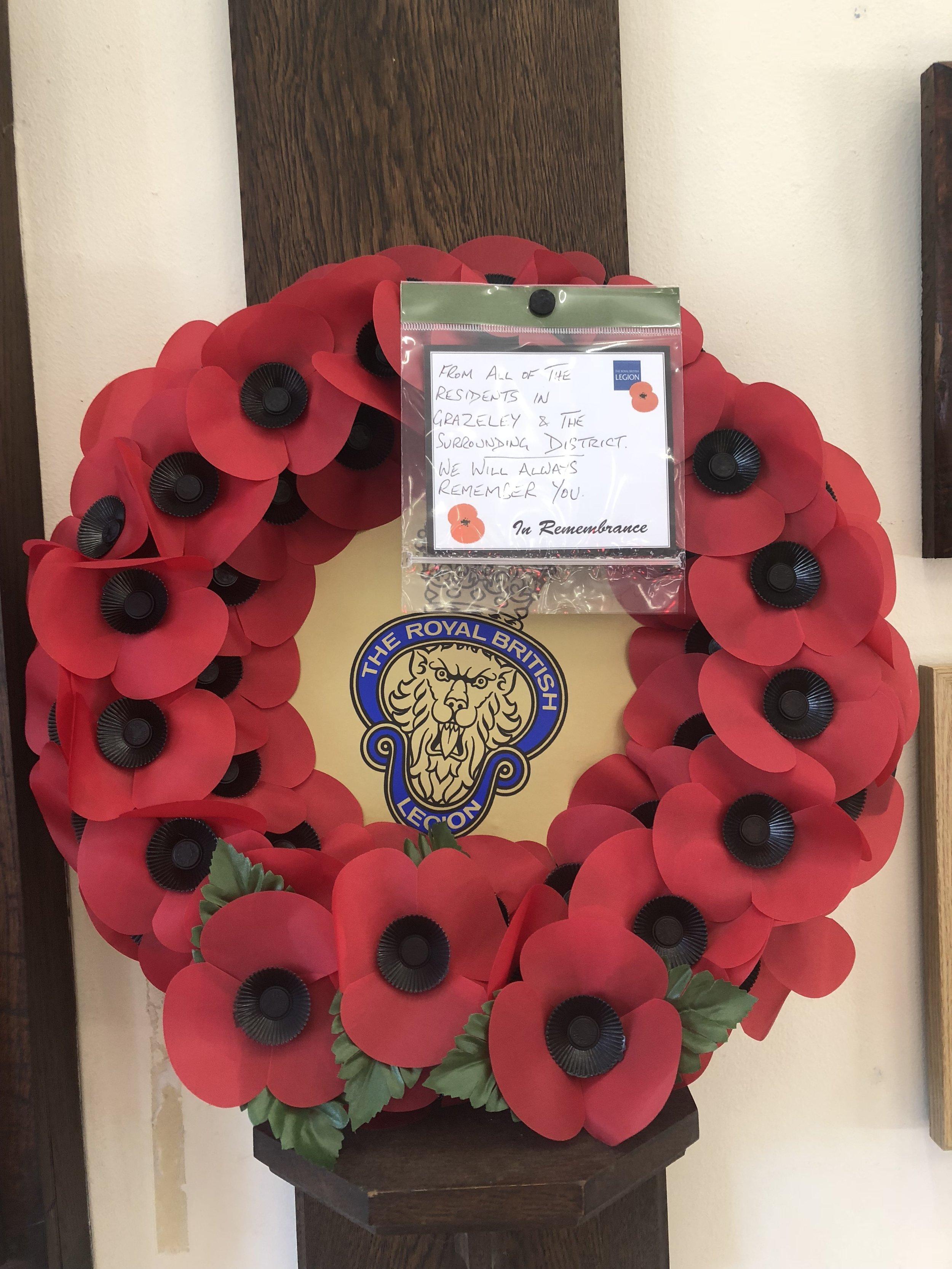 The Royal British Legion Memorial Wreath