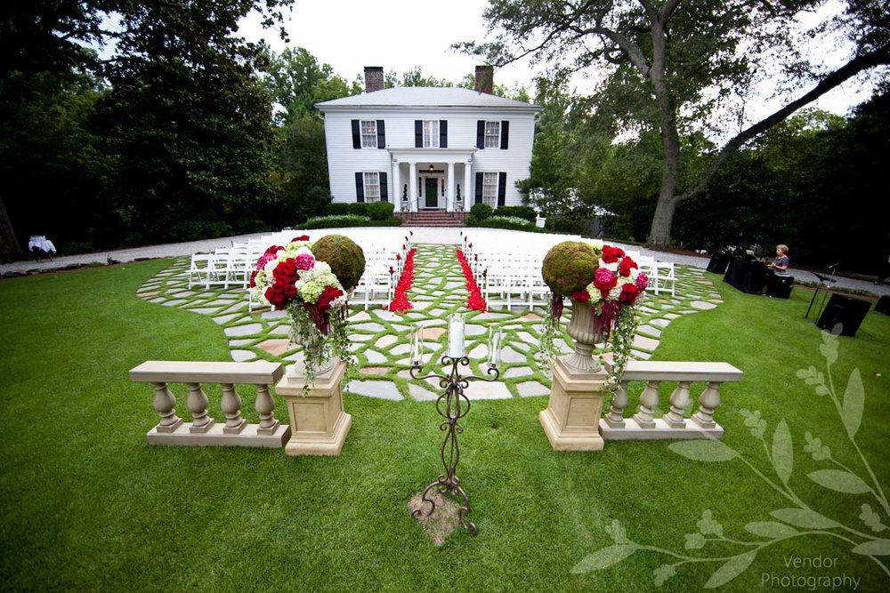 Historic Roswell Location - Out of Site from RoadStately Front LawnThree-story Antebellum Mansion