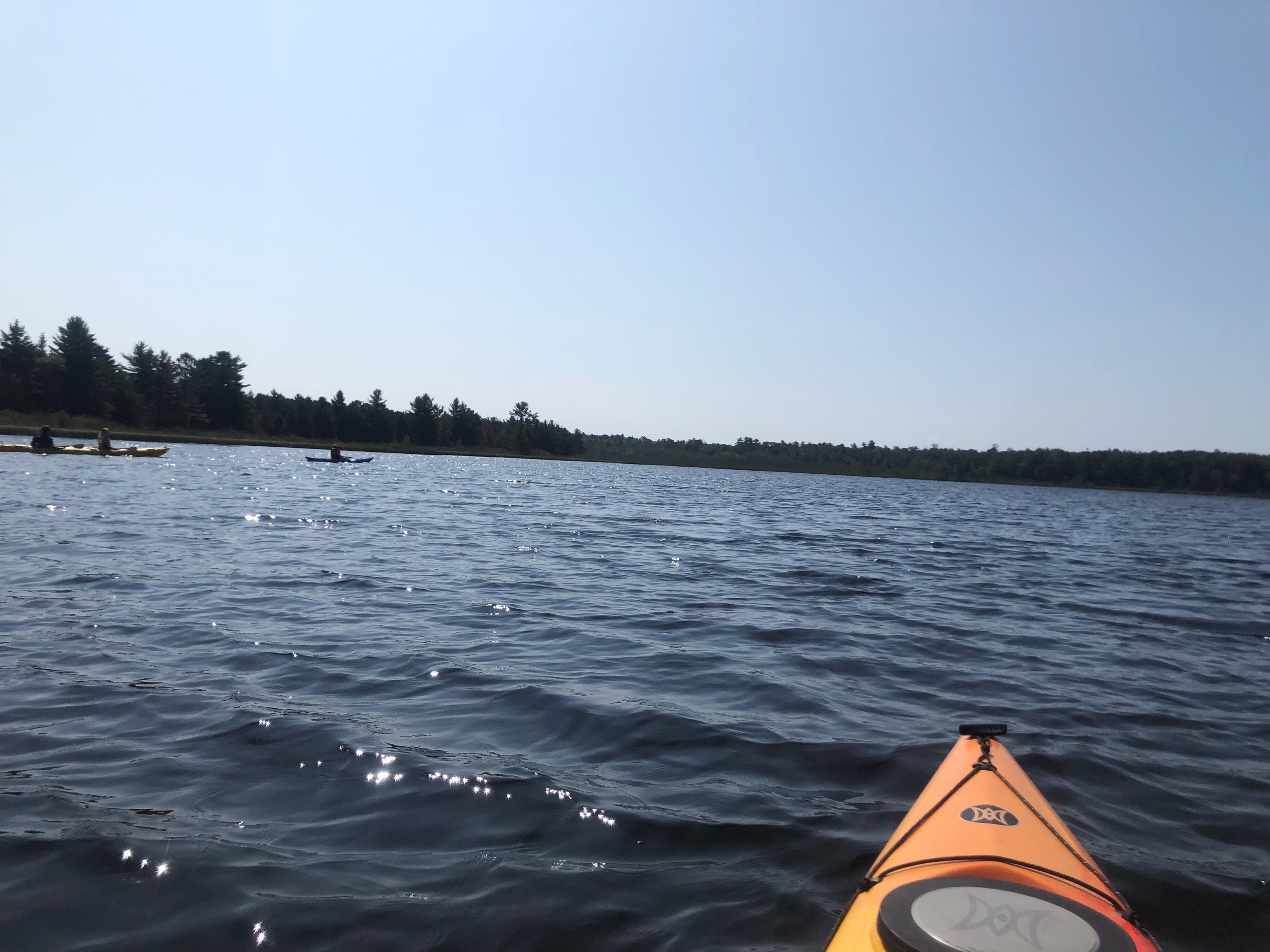 Went kayaking in a lagoon and on Superior
