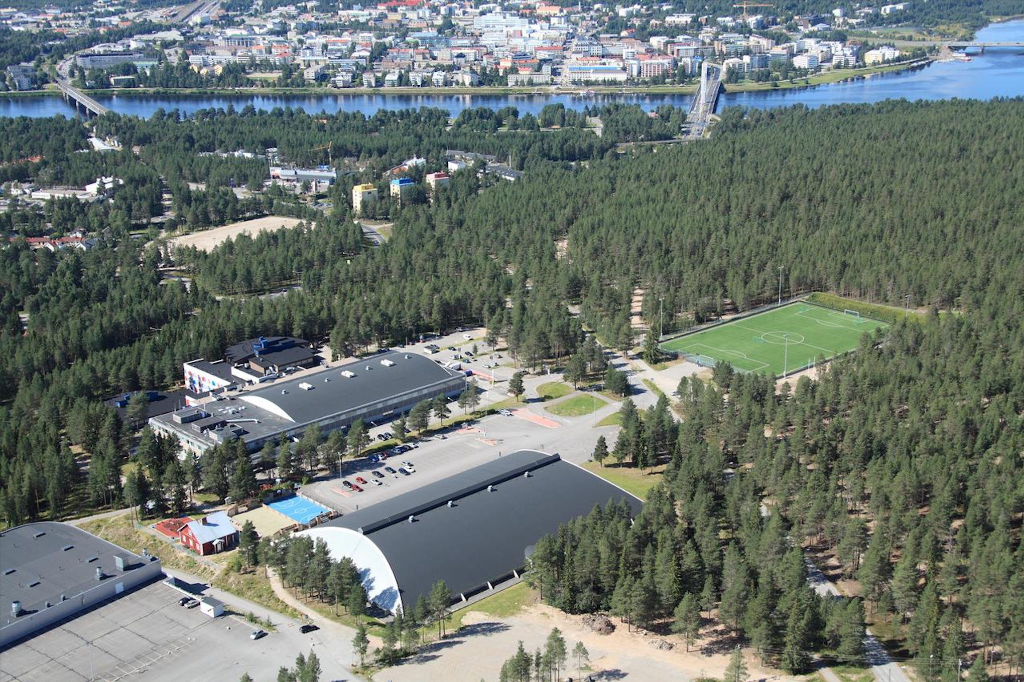 Santasport Olympic Training Centre at Ounasvaara fell.