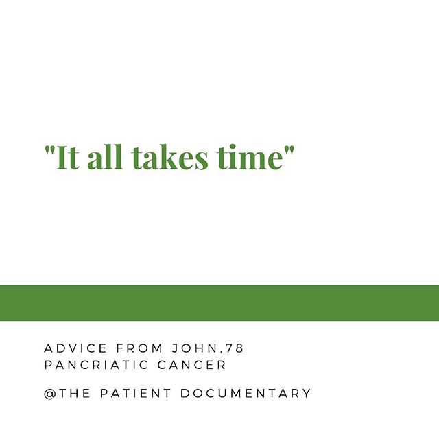 Some tried and true advice from John! It's almost Thursday which means it's almost almost Friday ya'll. It all takes time. #cancer #canceradvice #cancersucks