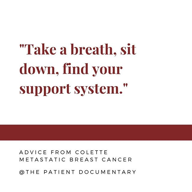 Colette's advice for a fresh cancer diagnosis. What is your #canceradvice?