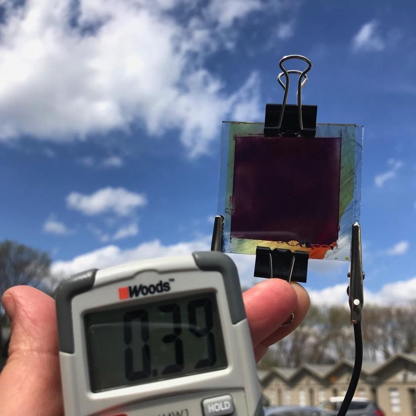 Lauren Zoll voltmeter and stained glass