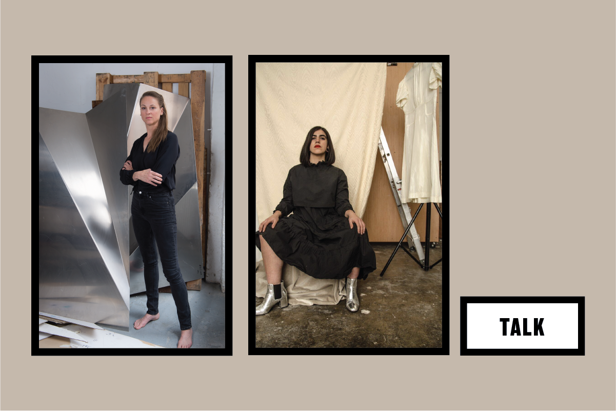 Left: Katja Strunz, Portrait, Photo: Regina Sablotny, © the artist; Right: Anna Martinez, Portrait, Photo: Charlee Black.