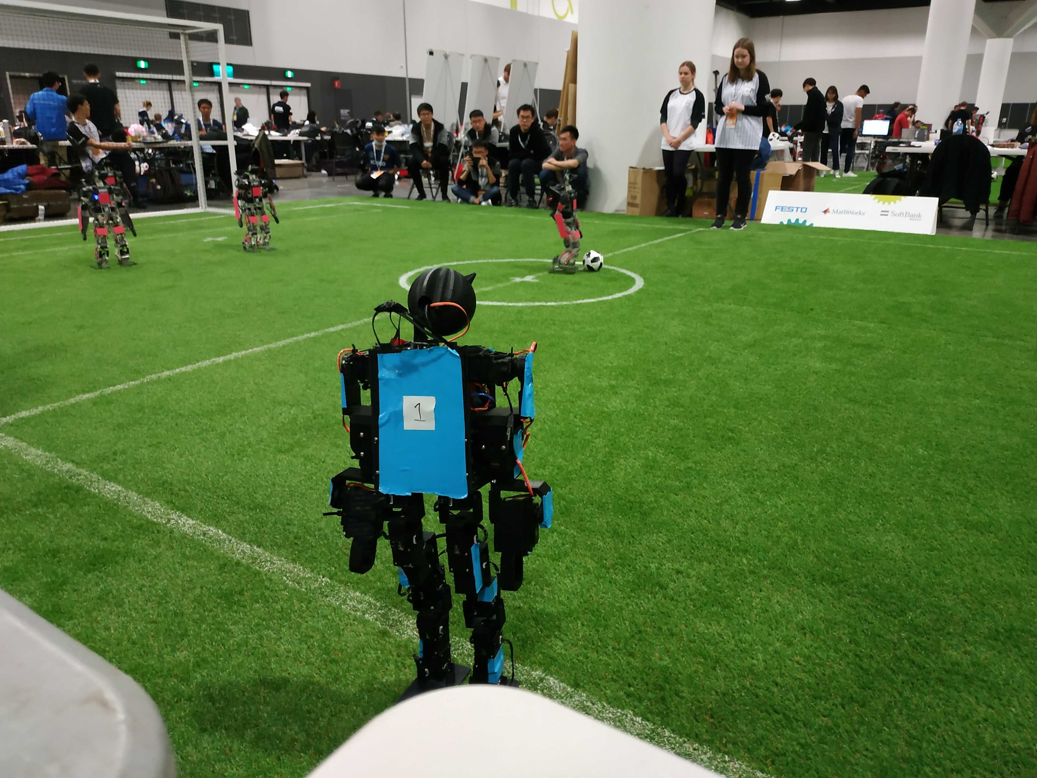 Excitement mounts as humanoid robot teams prepare to play soccer at RoboCup 2019.