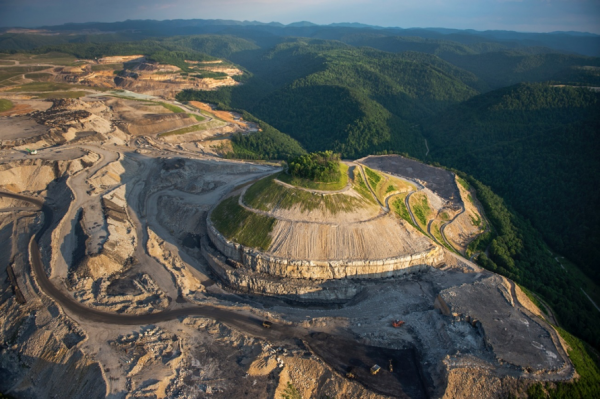 Vitale, A. A bird's-eye view of the mountaintop-removal mine that emptied Lindytown, West Virginia. [Digital image]. (2013, September 7). Retrieved December 9, 2017, from https://news.nationalgeographic.com/news/2013/09/130906-twilight-strip-mine-cemetery-west-virginia/