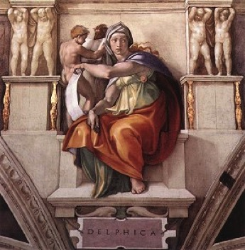 Sistine Chapel Ceiling: The Delphic Sibyl ~ Michelangelo