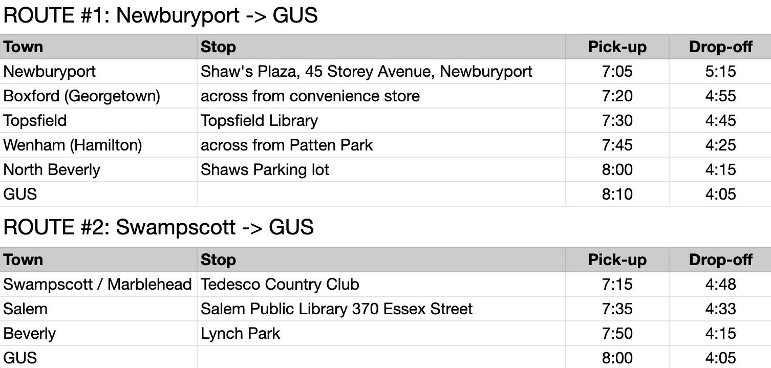 Bus Routes 9.3
