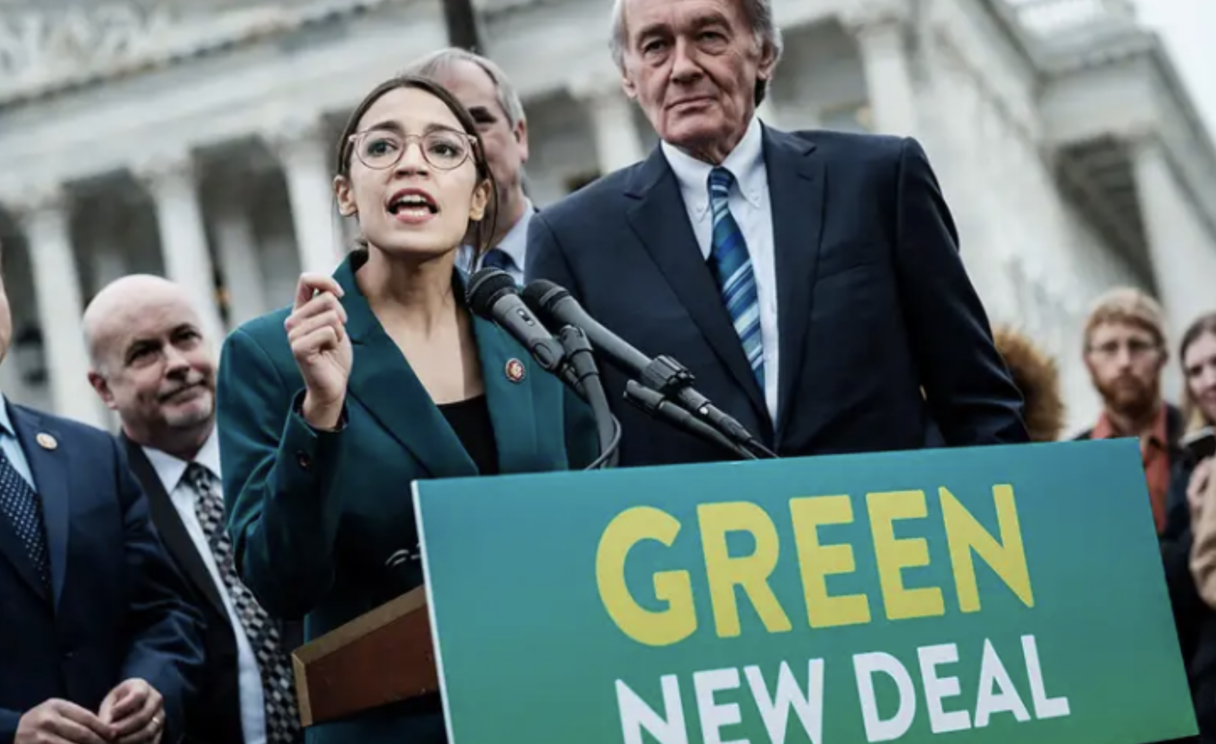 The Green New Deal - The Green New Deal is a climate proposal introduced by New York representative Alexandria Ocasio-Cortez and co-sponsored by Massachusetts Senator Edward J. Markey.