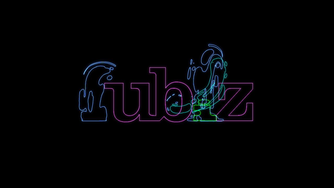 fubiz logo animation motion design 2D hand-drawn typographic loop graphic fluid wireframe