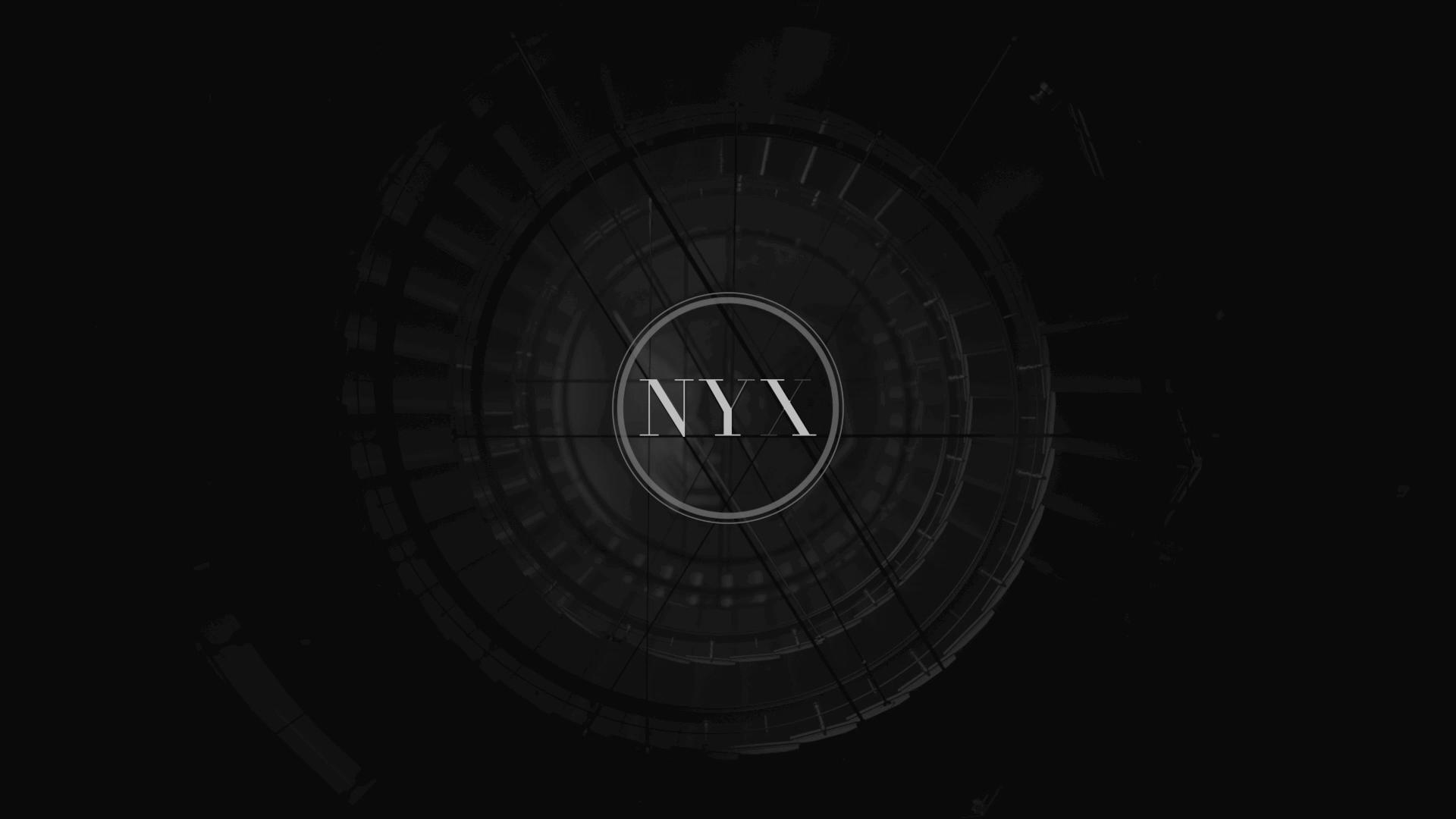 nyx transition title design motion 3D logo anamorphosis branding