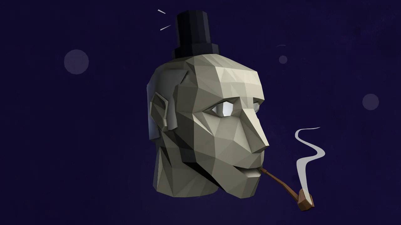 ashes transition gentleman hat fx motion design stillframe  2D hand-drawn animation