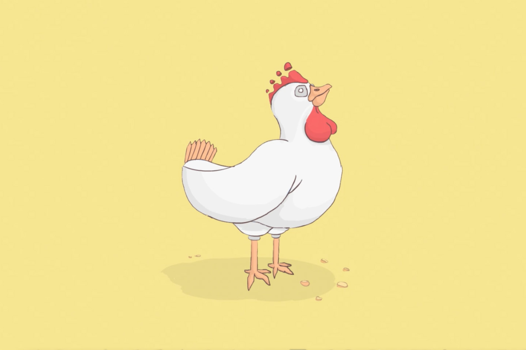 eggs chicken illustration 2D animation cel character design