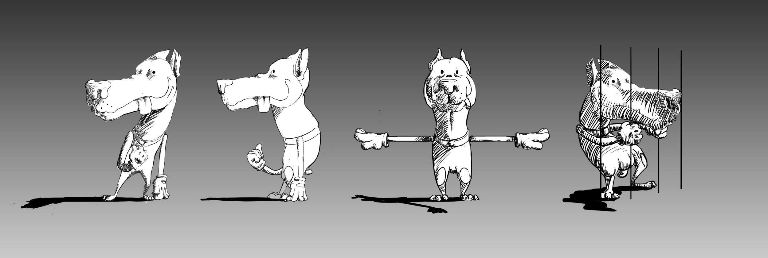 katharsis siriusmo music video 3D dog cartoon mental concept character design