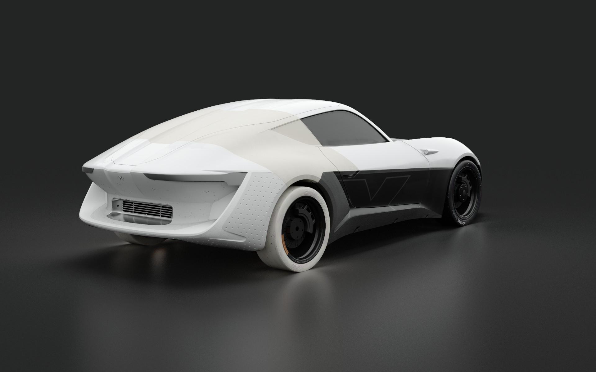 thomas charier xtaon 3D texturing contest substance painter concept car back