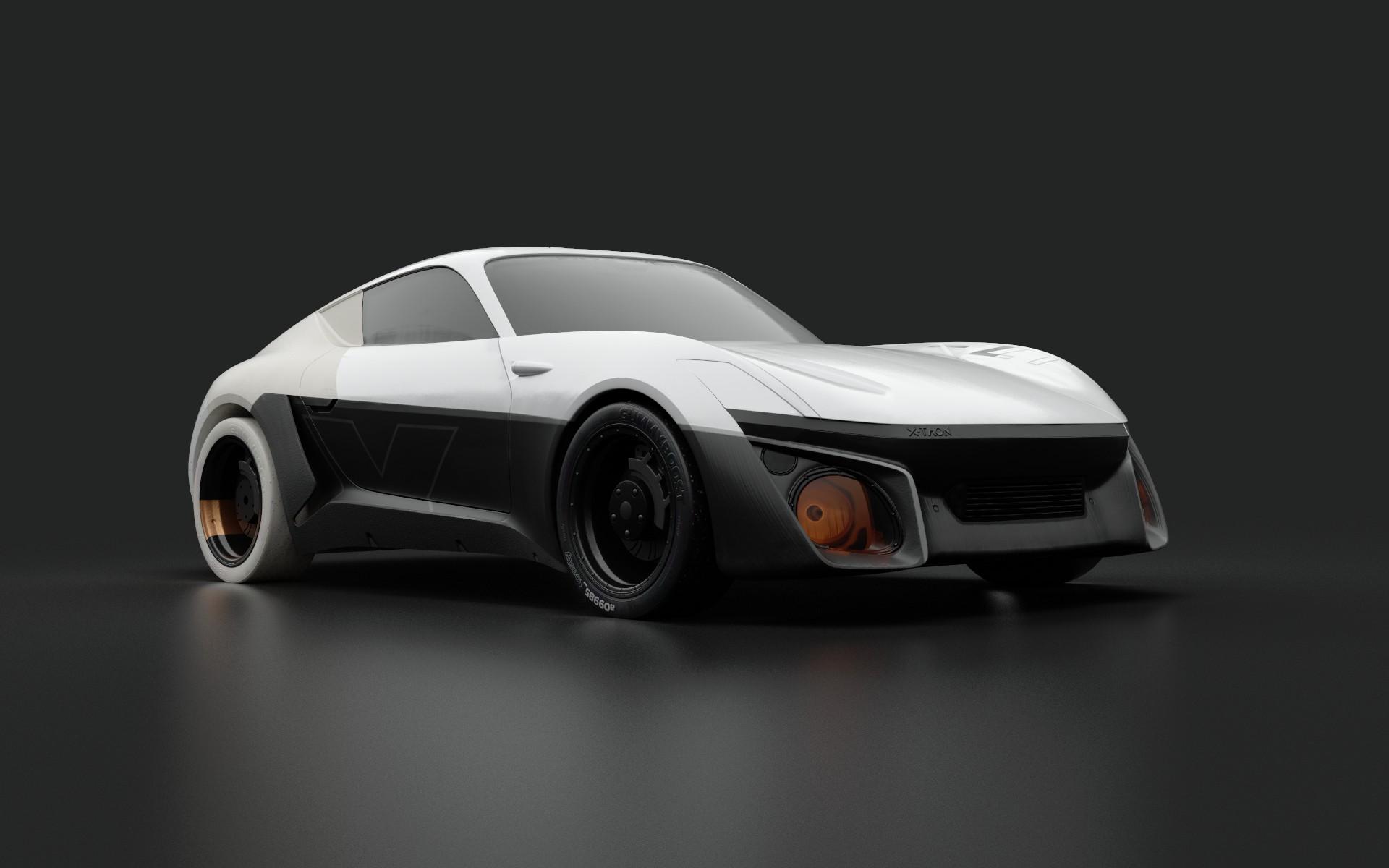 thomas charier xtaon 3D texturing contest substance painter concept car front