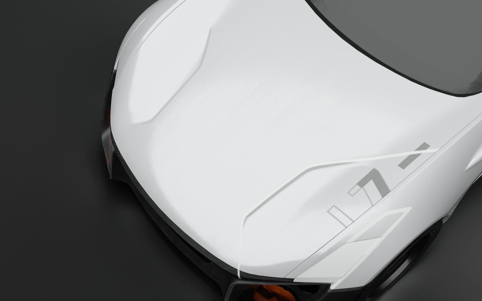 thomas charier xtaon 3D texturing contest substance painter concept car hood