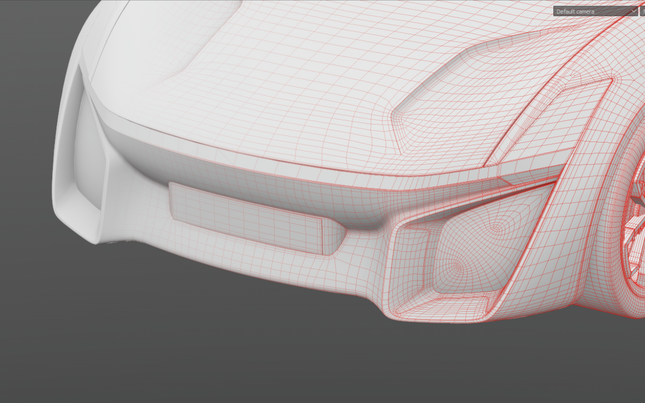 thomas charier xtaon 3D contest concept car wireframe model headlights