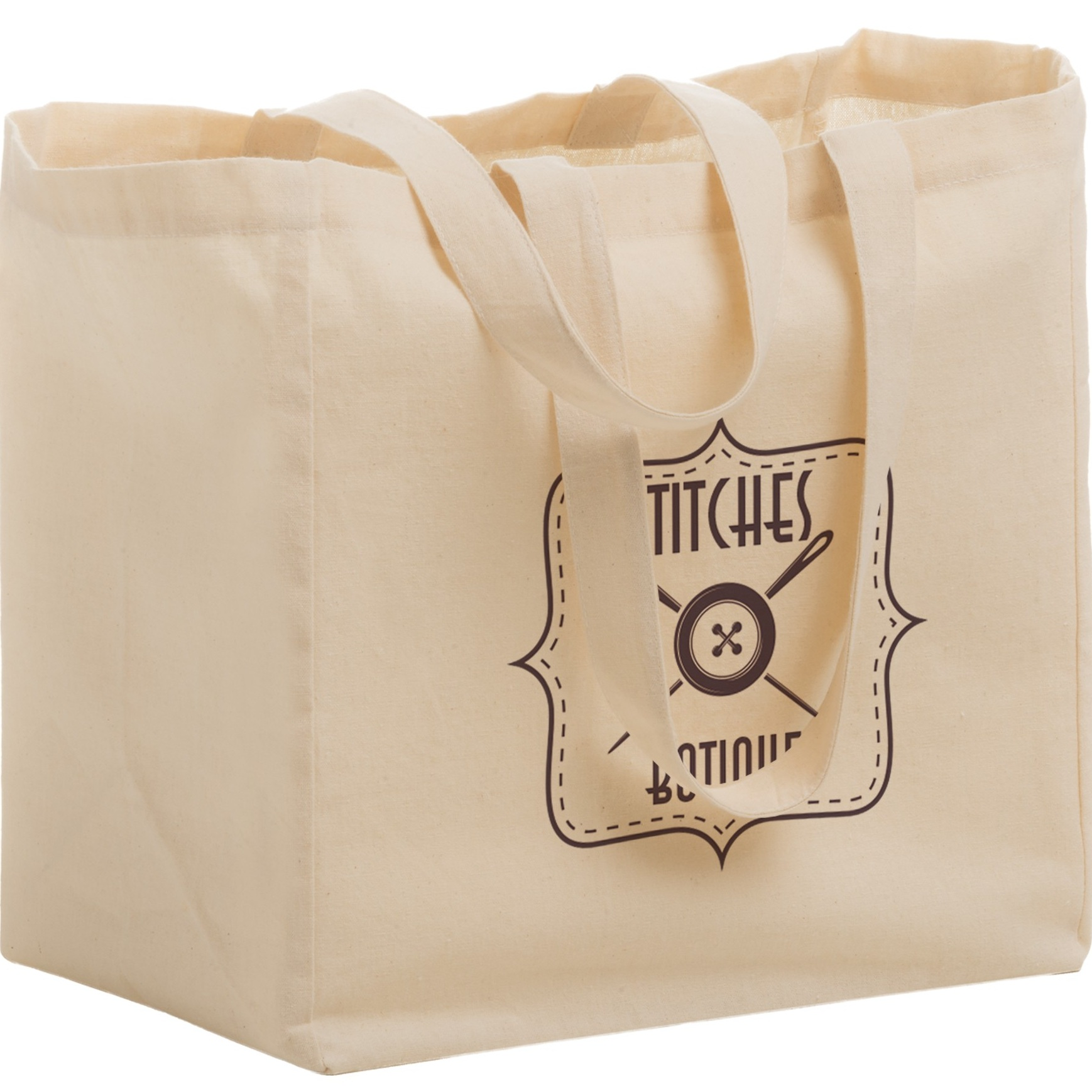 Cotton Canvas Grocery Tote Bag