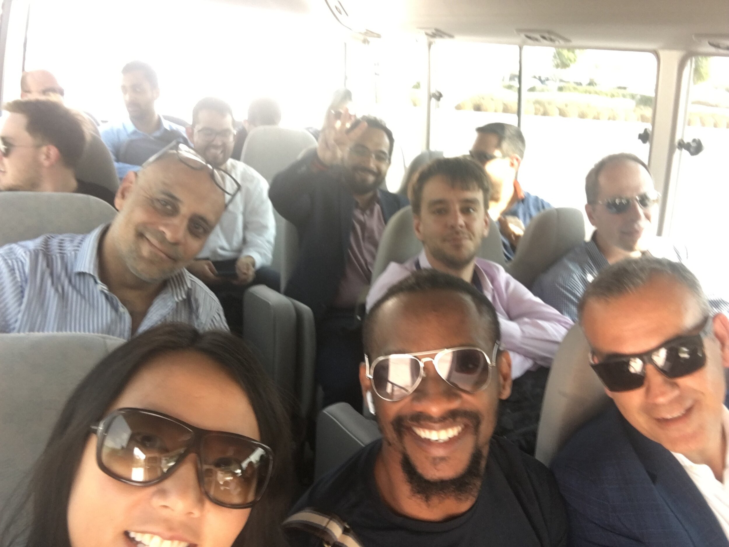 The Startup Bus AKA the Money Asking Bus. Getting ride from HBKU to QSTP to present our pitch.