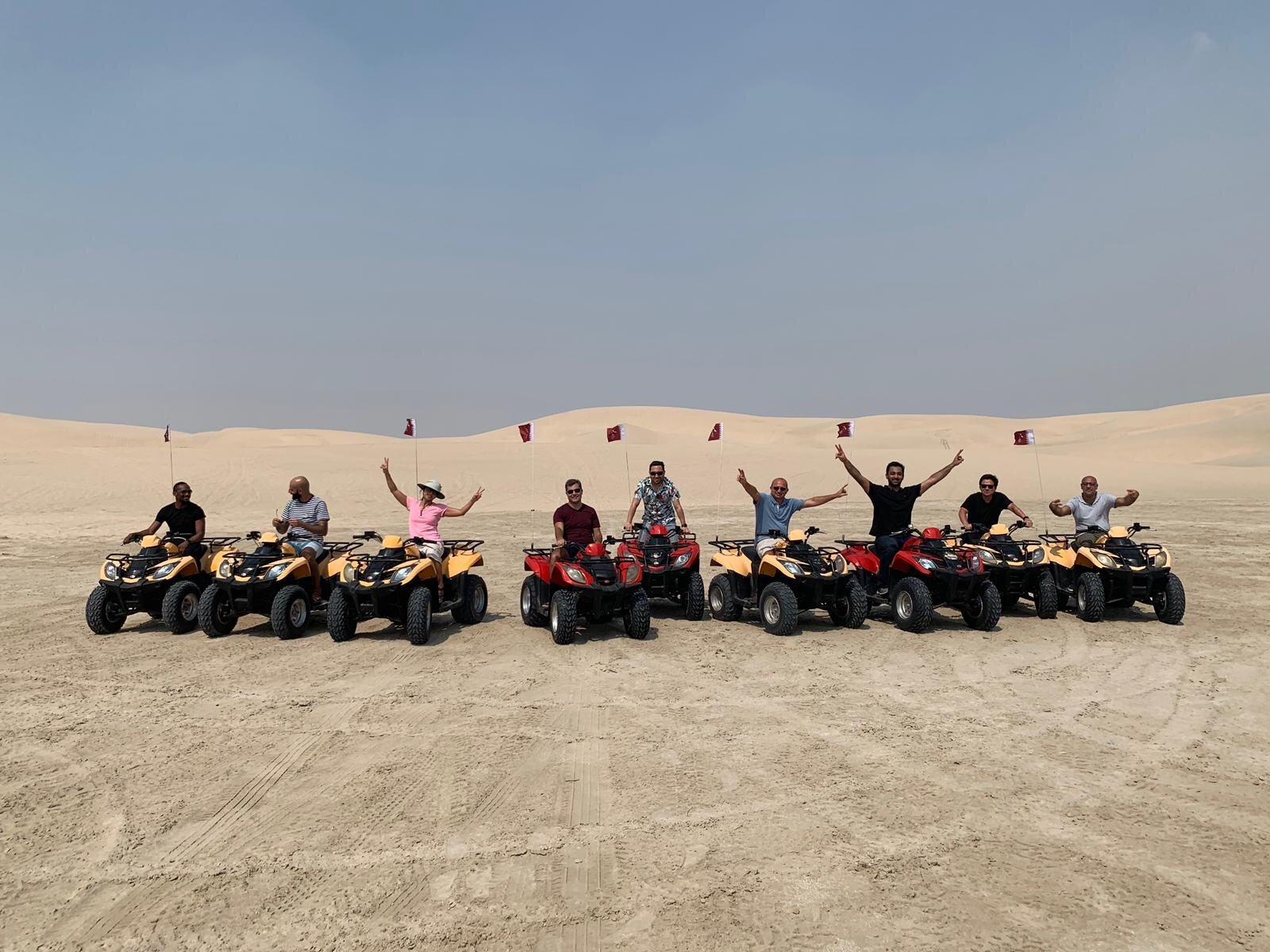 We did the tourist thing . . . Dune bashing and ATVs on our last day as a group. How can we be in the middle of the desert and not hit the sand dunes?
