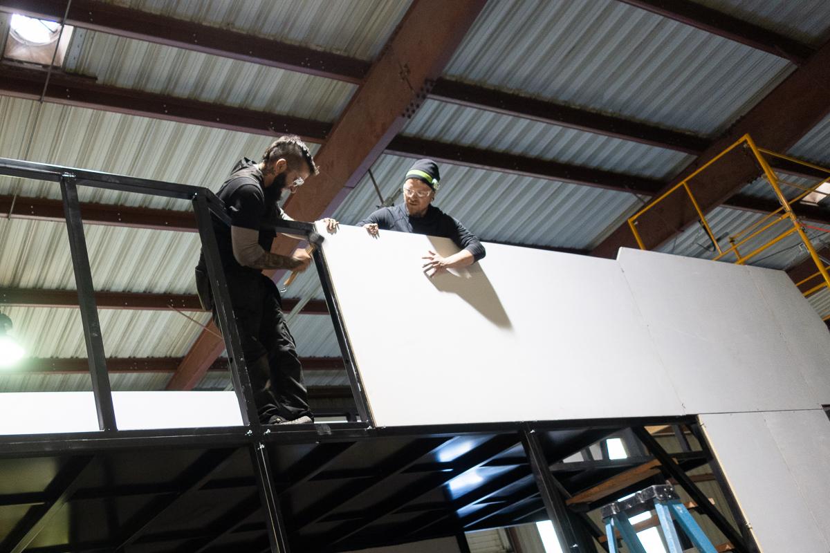 Tesseract team puts on side panels