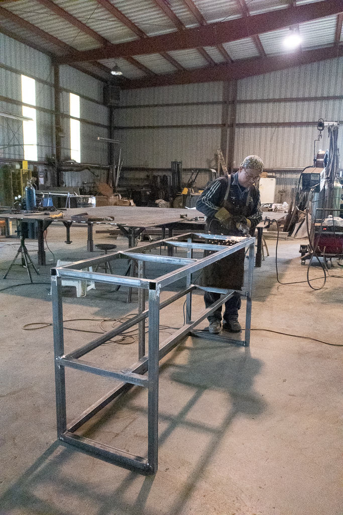 Ferguson Welding's Ace, Tom Dinh builds benches