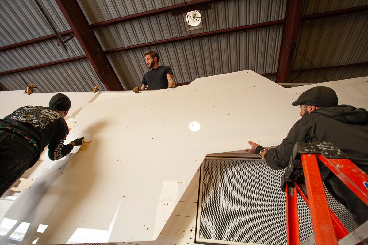 Test Fitting of Lexan Panels