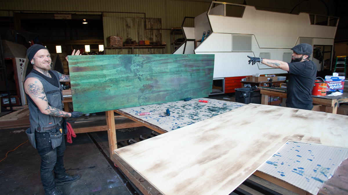 Beautiful stained wood for interior and body panels