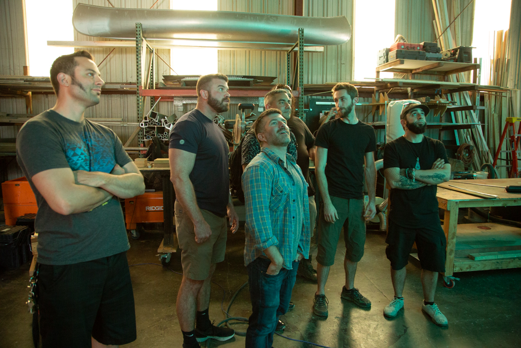 Key members of Camp Mystopia visit