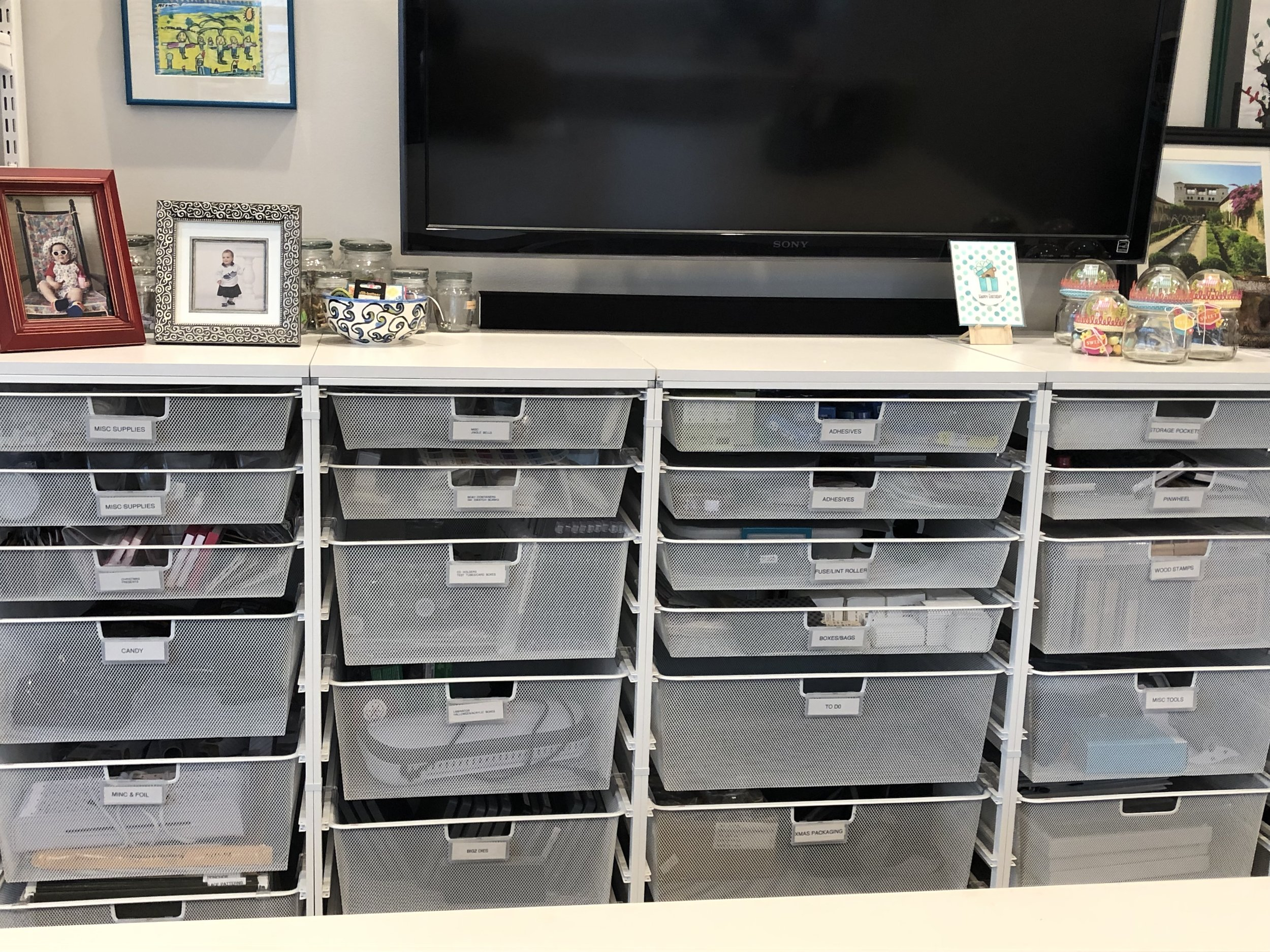 wire mesh drawers that hold SO much