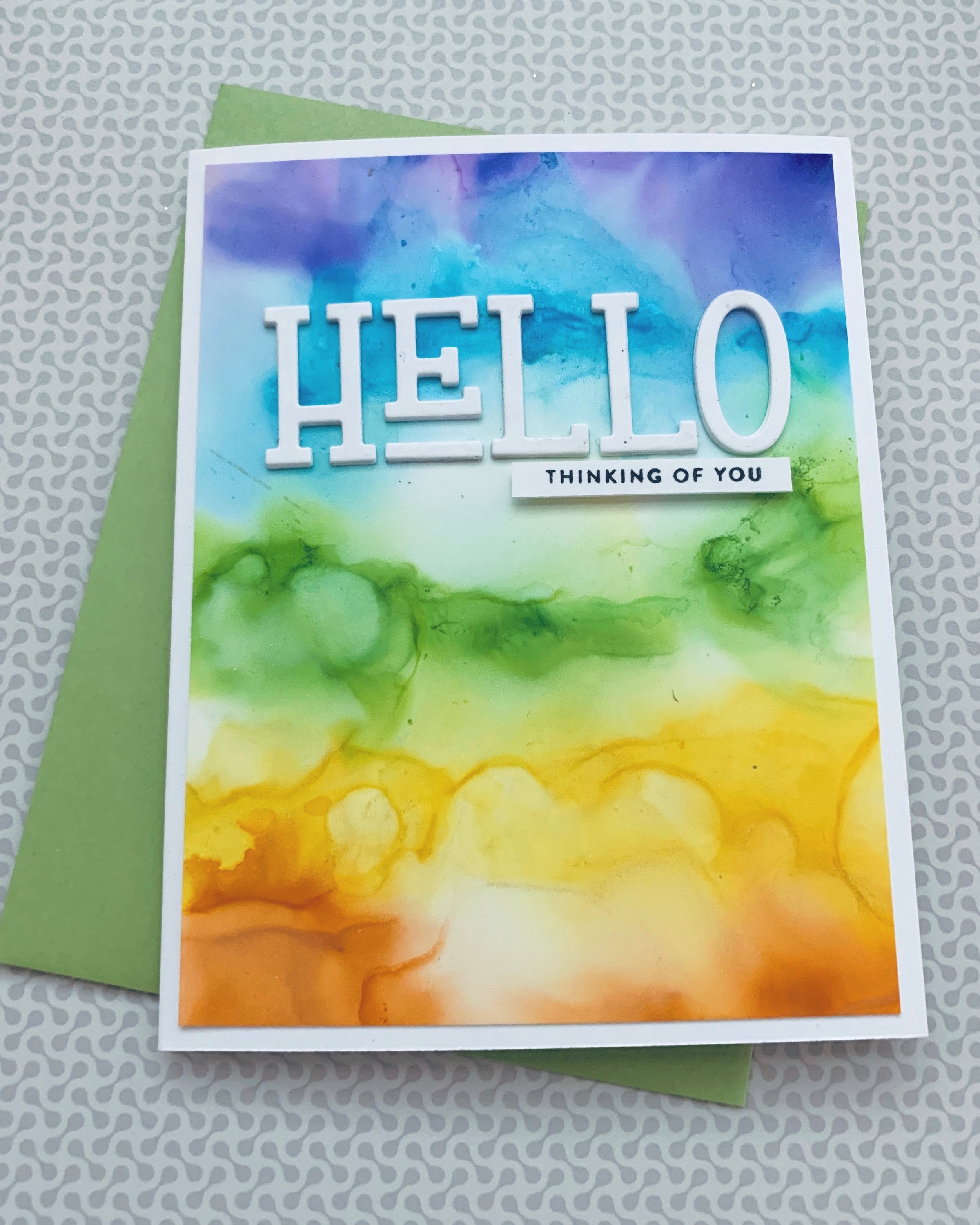 Alcohol Pearl Ink Cards|Positively Jane