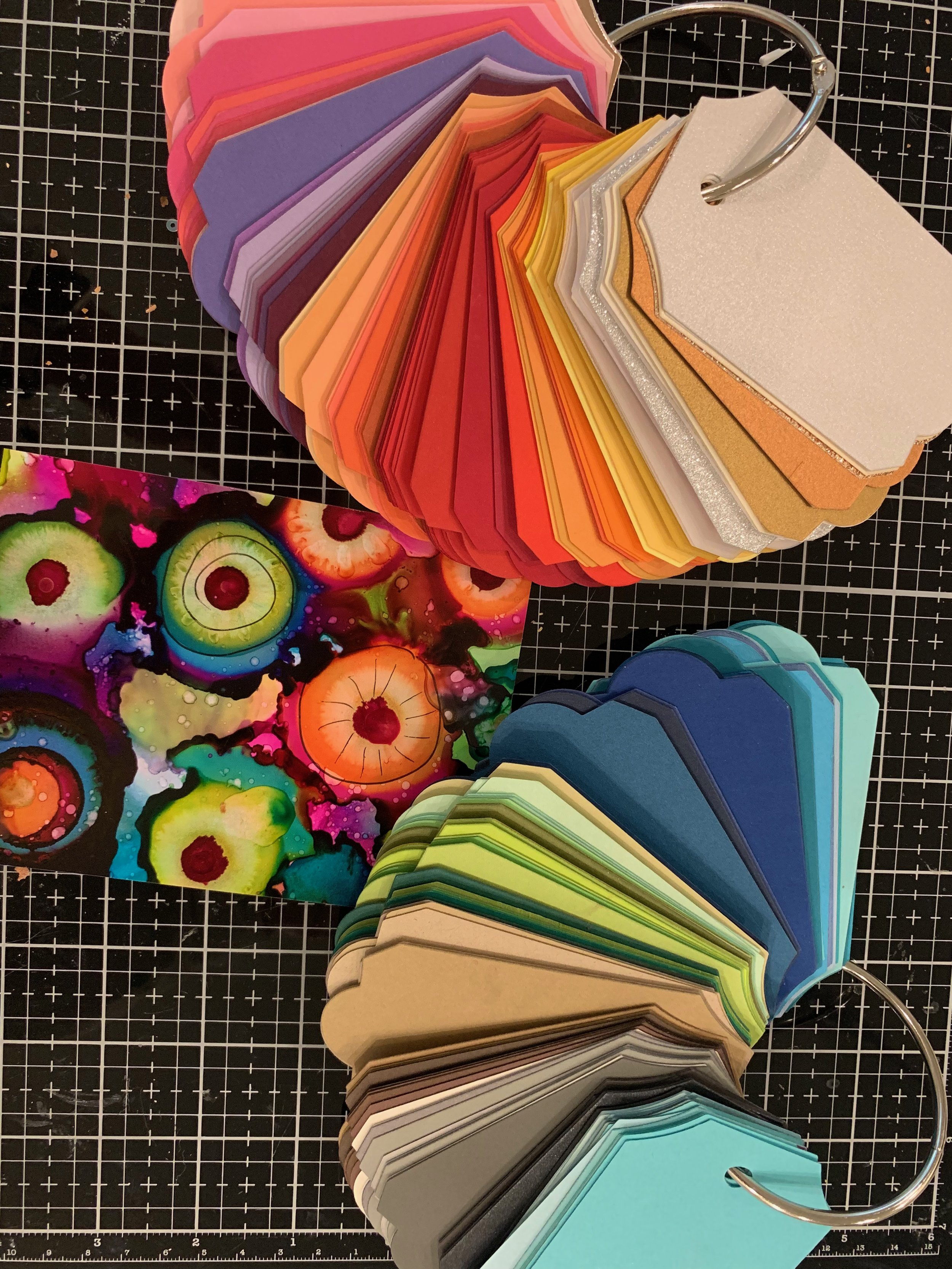 Choosing the correct color of cardstock