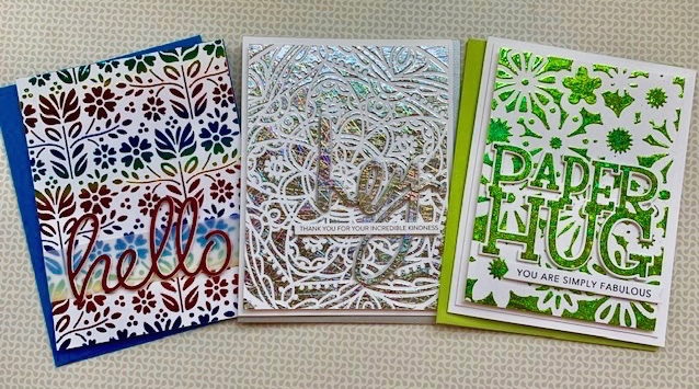 tone on tone cards with foil |positively jane