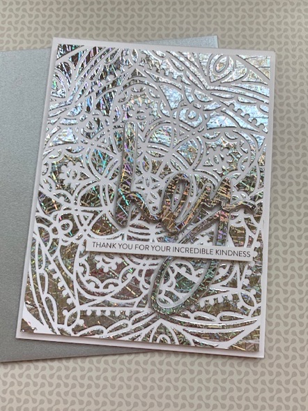 tone on tone cards with foil|positively jane