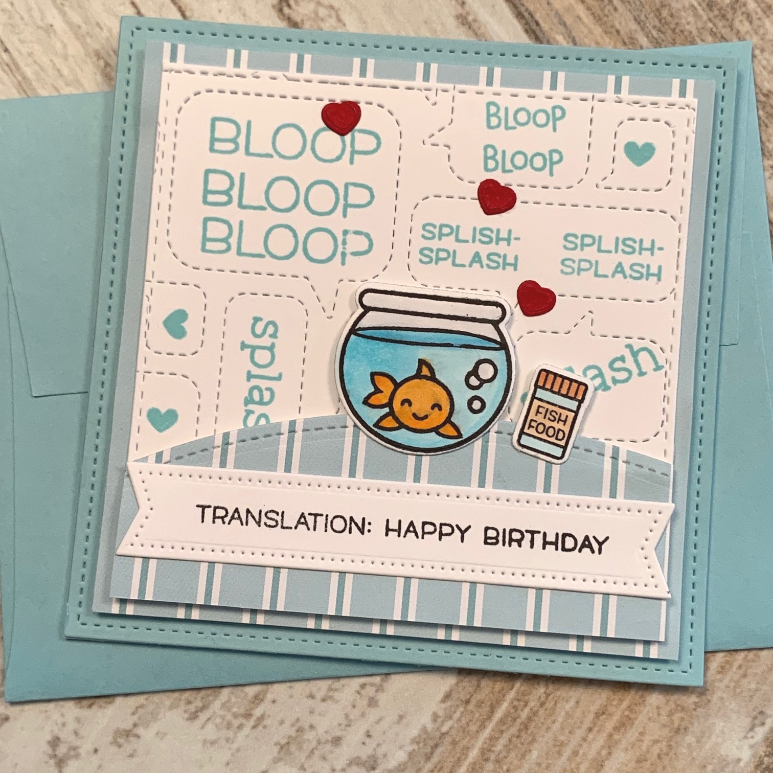 lawn fawn bloop bloop card|positively jane