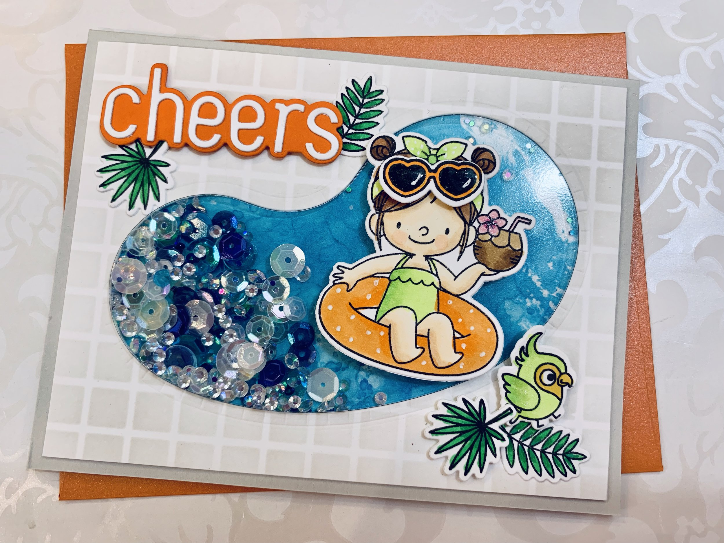 swimming Pool Shaker Cards|positively Jane